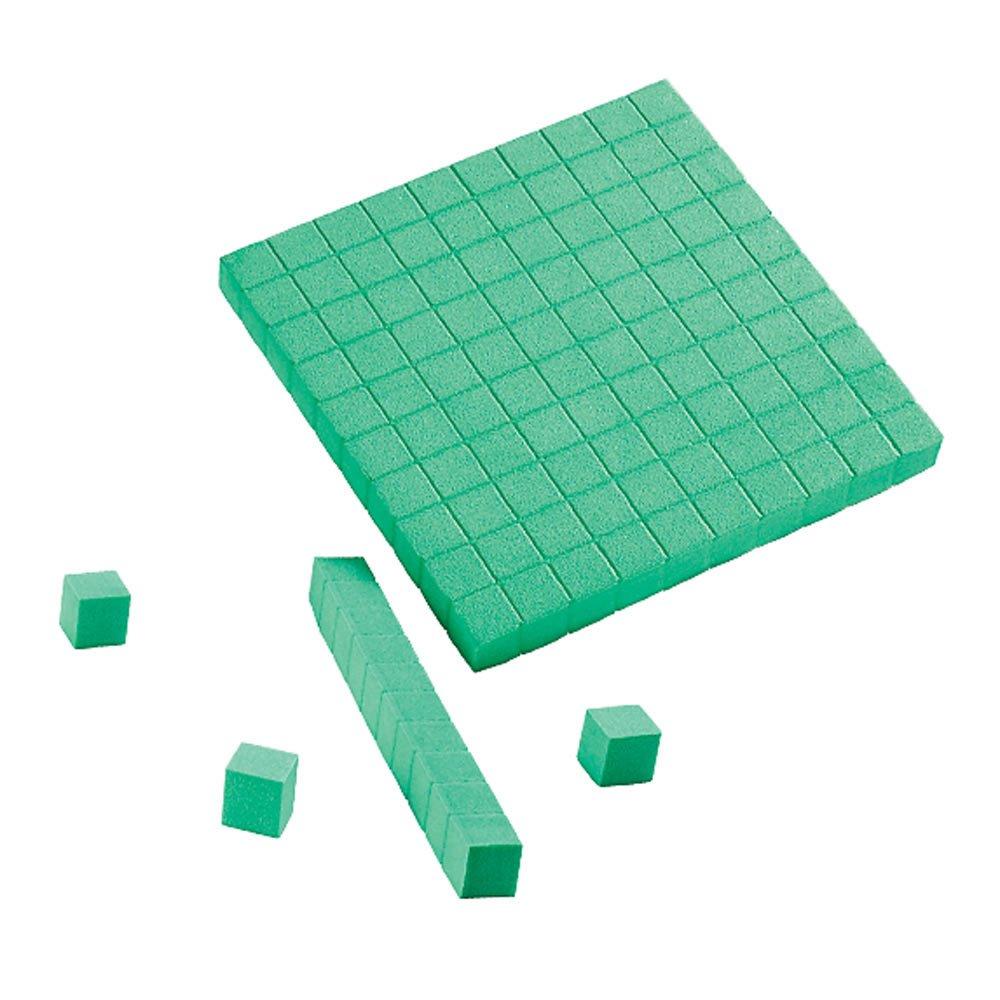 worksheet Place Value Blocks amazon com eta hand2mind green foam base ten blocks class set industrial scientific