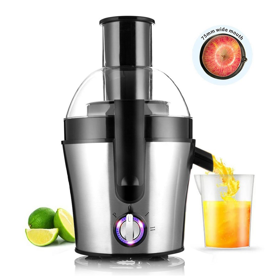 Fruit And Vegetable Juicer Juice Maker Stainless Steel Three Speed Centrifugal Juicer Extractor 300 Watt