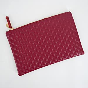 cbea9f00ce38 Oversized Envelope Clutch Fashionista Quilted Diamond Pattern Leather  Handbag Purse