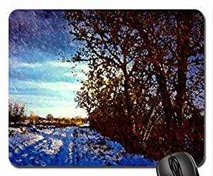 LET it SNOW! Mouse Pad, Mousepad (Winter Mouse Pad, Watercolor style)