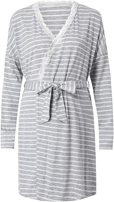 BBsmile Lactancia camisón y Bata Vestido de Maternidad para Mujer Camisón de Lactancia para la Lactancia Bata de Noche Ropa de Dormir: Amazon.es: Ropa y accesorios
