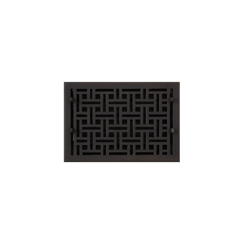 Naiture 8'' x 12'' Oversized Bronze Floor Register Wicker Style by SH