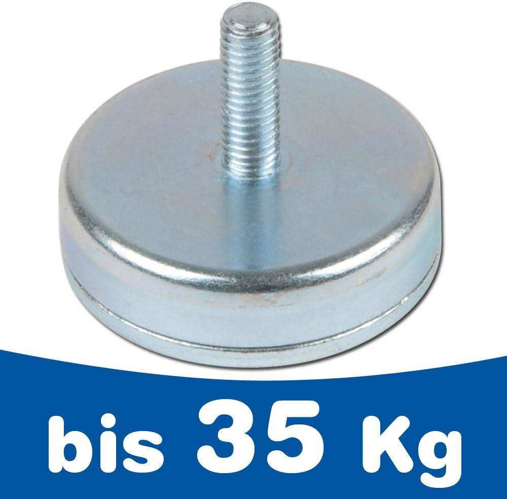 10 x Neodym Magnet Mit Bohrung M3 Innengewinde 2,2 KG Stark 10mm Topfmagnet