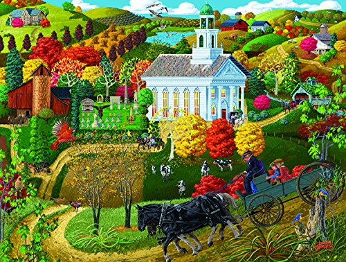 A Country Church 500 Piece Jigsaw Puzzle by SunsOut