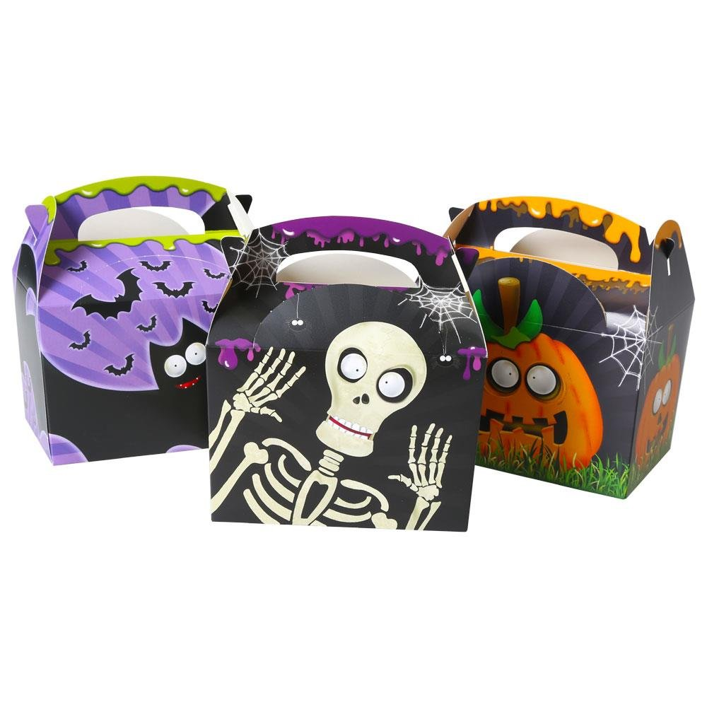 Peeks Pack of 10 Trick or Treat Kids Childrens Halloween Party Goodie Bags Boxes