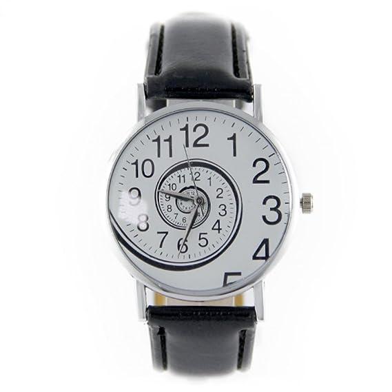 Reloj mujer remolino Muzzano pulsera piel sintética negro My-Montre