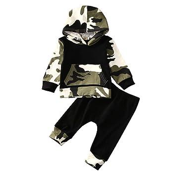 3a021260b5847 MyMei 迷彩柄 子供服 赤ちゃん服 上着+パンツ2点セット かっこいい ベビー服