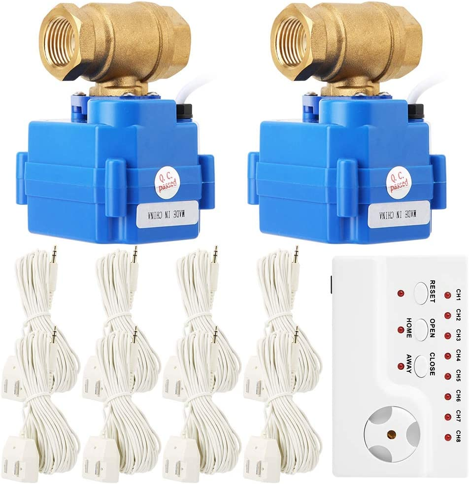 Smart Water Leak Detector, Laundry Shut Off System, Automatic Shut Off Valve Home Security System for Washing Machine Outlets, Flood Stopping and Water Leak Detection(US)