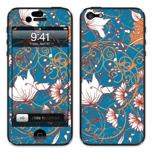 Diabloskinz B0081-0004-0026 Vinyl Skin für Apple iPhone 5/5S Blue Flower