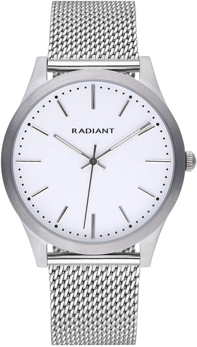 Reloj analógico para Hombre de Radiant. Colección Light&Shadow. Reloj Plateado con Malla milanesa y Esfera Blanca. 3ATM. 40mm. Referencia RA553604.