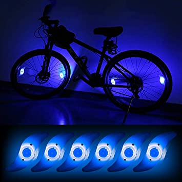 4Pcs Bicycle Wheel Spoke Light Colorful Bright Flashing Bike Cycle Tyre Light HW