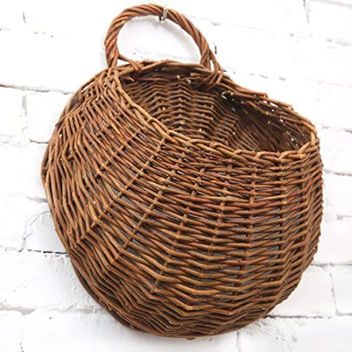 Banwen Hand Made Decorative Hanging Basket Plant Artificial Flower Vine for Home Garden Wall and Wedding Decoration Large