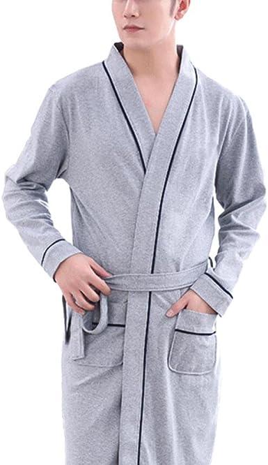 Pijama De Pijamas De Algodón para Hombre De Primavera/Verano Largo ...