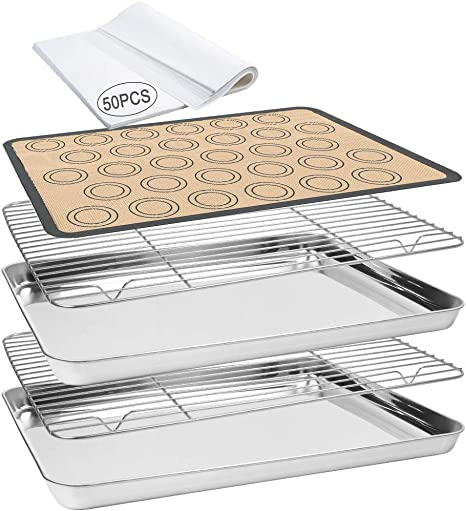 2pcs Bakeable Nonstick Cooling Rack for Baking for Baking Oven Kitchen Cooking