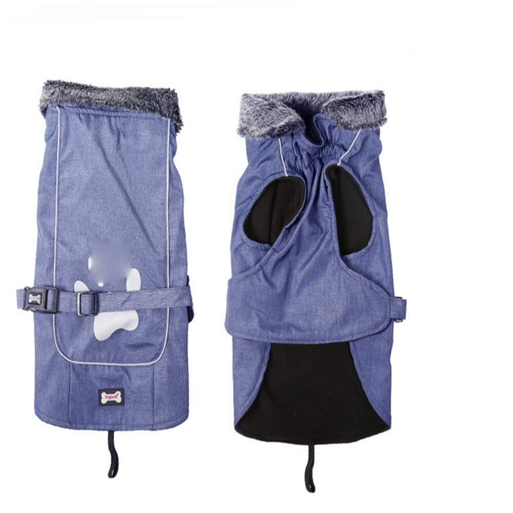 A L A L Dog Thick Jacket, Winter Warm Pet Waterproof Clothing-A L