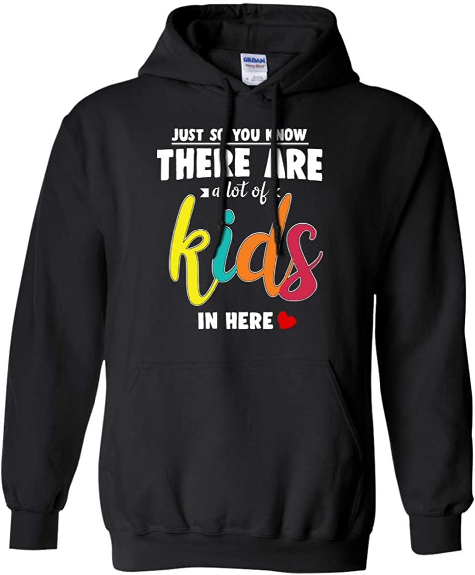 Teely Shop Mens Mommy Moment There are A Lit of Kids in Here G185 Gildan Pullover Hoodie 8 oz.