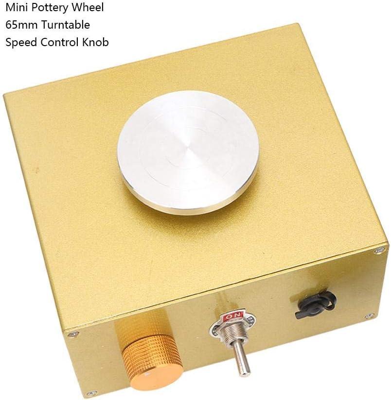 Pottery Wheel Machine Adjustable Speed Mini Electric Pottery Machine Turntable Handmade Art Craft Tool 100-240V US Plug