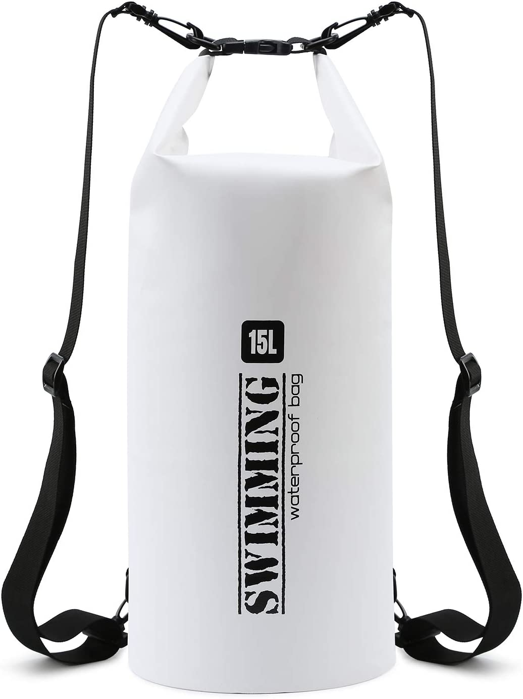 Floating Waterproof Dry Bag,PVC Waterproof Bag Roll Top Lightweight 15L for Kayaking, Rafting, Boating, Surfing,Beach,Swimming,Fishing