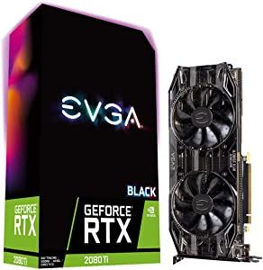 EVGA GeForce RTX 2080 Ti XC Black Edition Gaming, 11GB GDDR6, Dual HDB Fans, RGB LED, Metal Backplate, 11G-P4-2282-KR