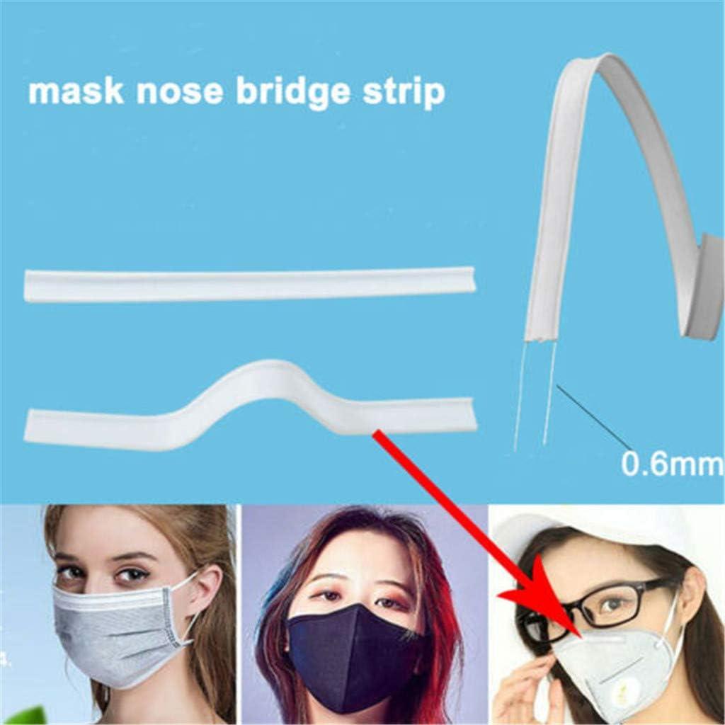 MARKWIND Nose Wire Aluminum Metal Nose Bridge Strip for DIY Handmade Crafting Sewing Making Material Nose Bridge Clip Kit