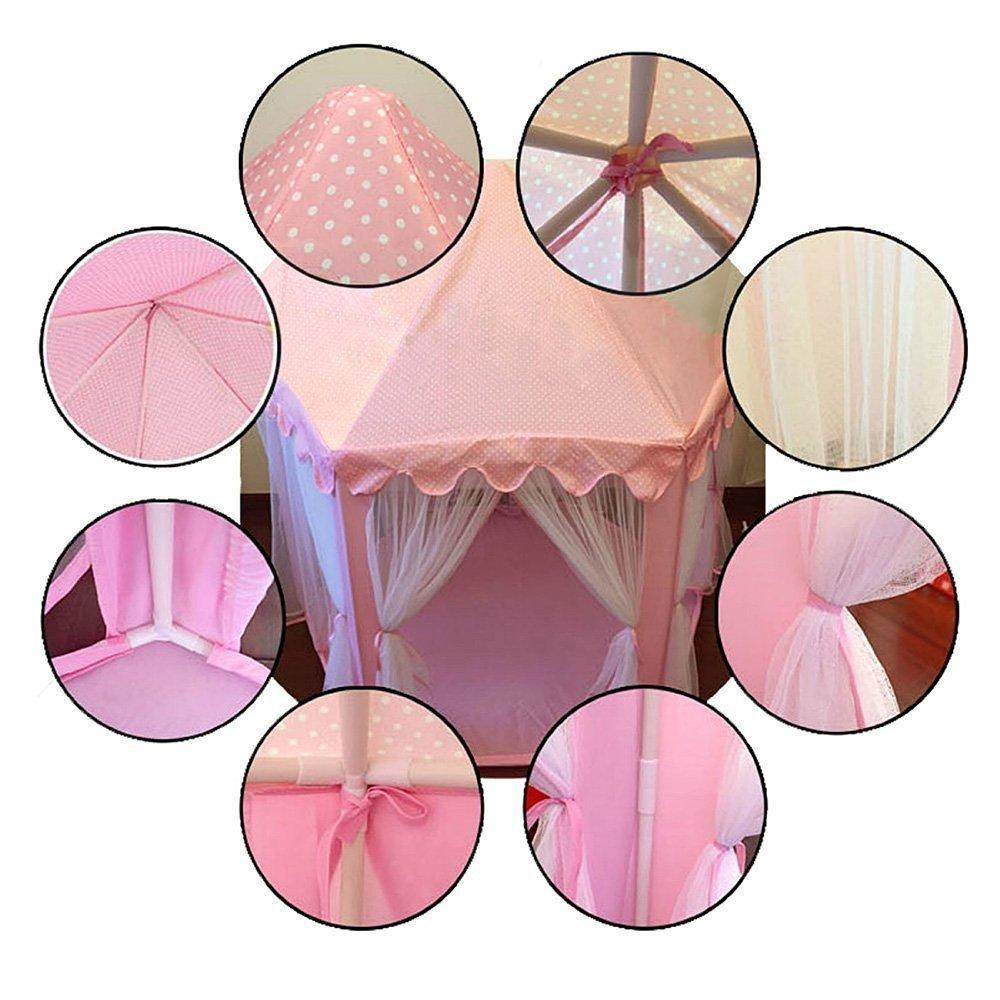 a los ni/ños Shayson al aire libre Portable gran Playhouse con 40 peque/ñas luces de estrellas Juego de Castillo princesa interior tiendas perfecto interior juguetes regalos para ni/ños de infantil