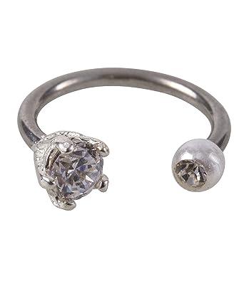 Six schmuck ring  SIX Helix Piercing-Ring aus 925er Silber mit Strasssteinen und ...