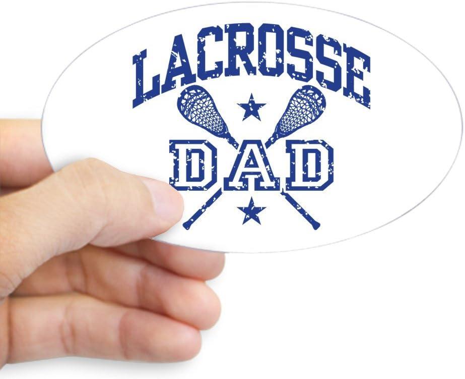 Lacrosse Dad CafePress Oval Bumper Sticker Car Decal