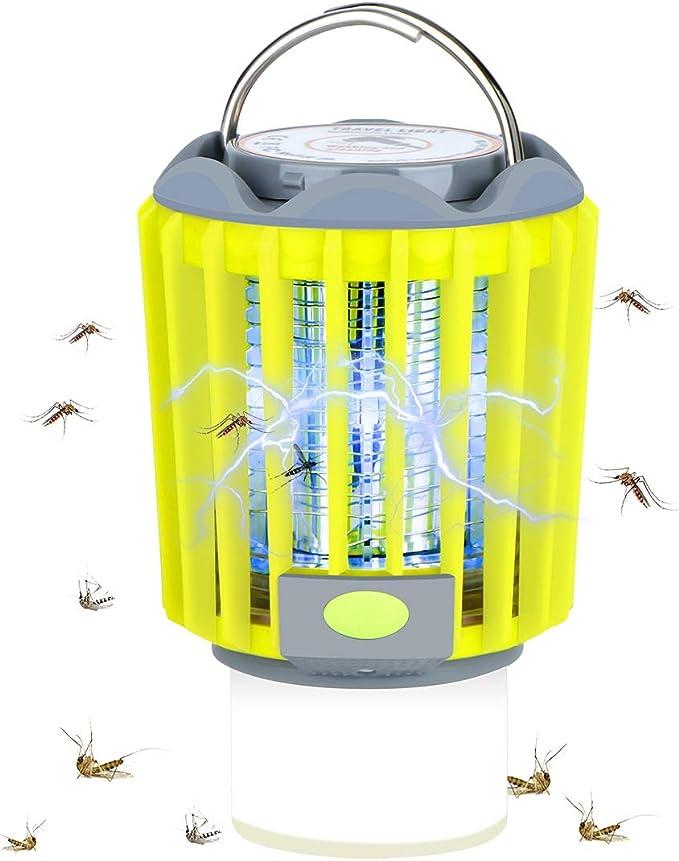Ventilateur Daspiration KKmoon LED Lampe Anti-moustique /électrique Lumi/ère UV Photocatalytique Pi/ège /à Moustiques Ext/érieur Int/érieur Pas de Bruit et Rayonnement Alimentation USB