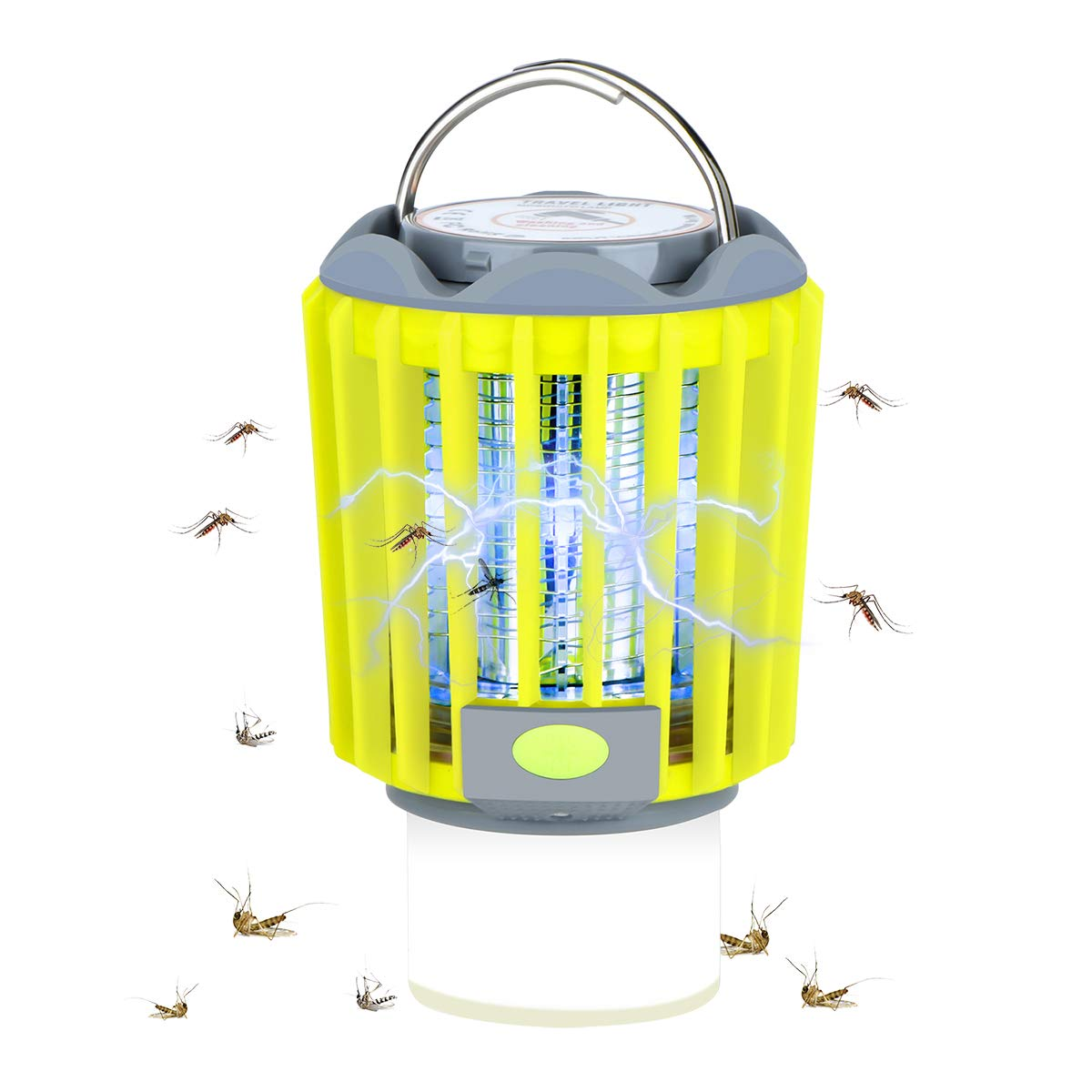 veerkey 3 in 1 Mosquito Killer Tent Light LED Lantern Flashlight/Camping Lamp, Portable and IPX6 Anti Bug Insect Repellent - Green