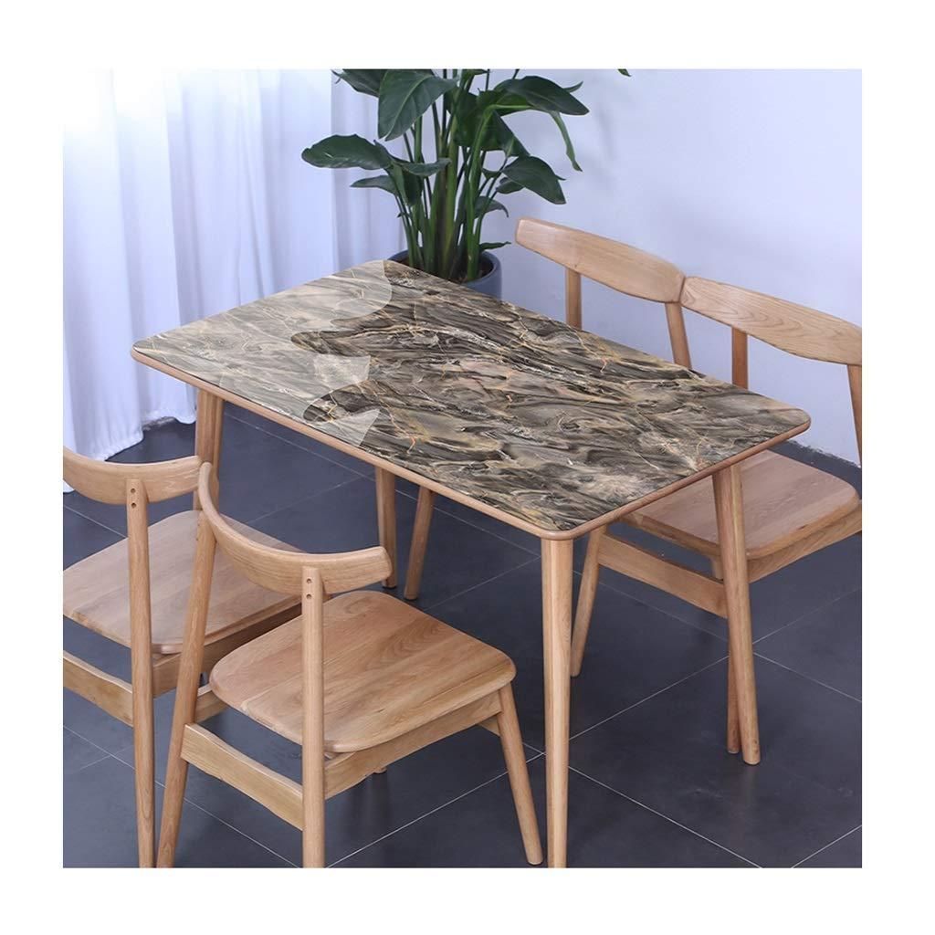 テーブルクロス 大理石 パターン テーブルクロス PVC やけど防止 防水 耐油 複数 サイズ 柔らかい そして 閉じる いいえ 収縮 ブラック (色 : B, サイズ さいず : 85x135cm) 85x135cm B B07RY12ZF1