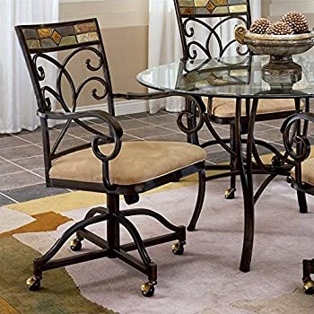 Amazon.com - Powell Hamilton Swivel-Tilt Dining Chair on ...