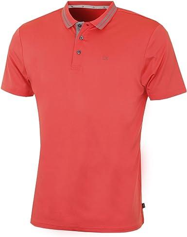 Calvin Klein - Polo - para Hombre Naranja Coral Small: Amazon.es ...