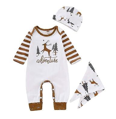 4ba39d7fe Taylorean 0-24 Months Newborn Infant Baby Boys Girls Christmas Deer Print Long  Sleeve Tops