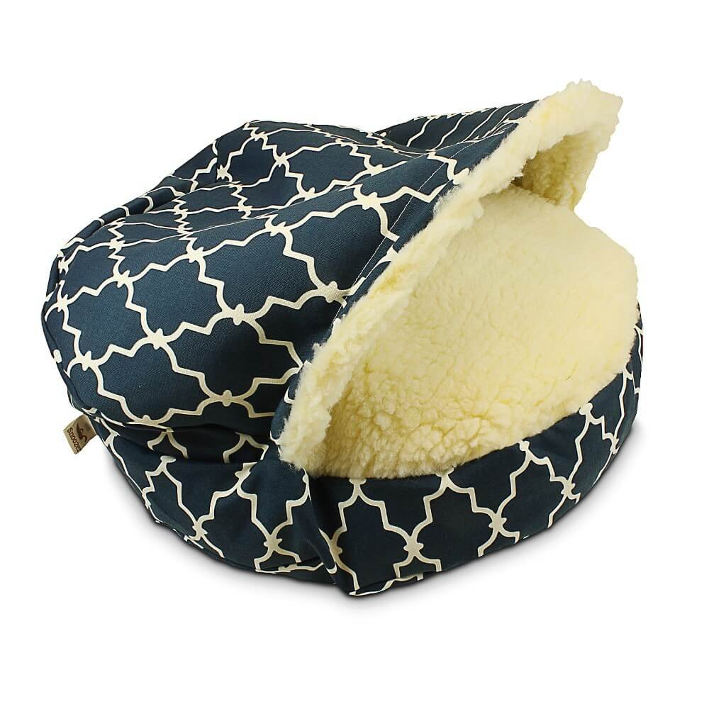 Snoozer Luxury Cozy Cave Pet Bed, Garden Gate Navy, X-Large