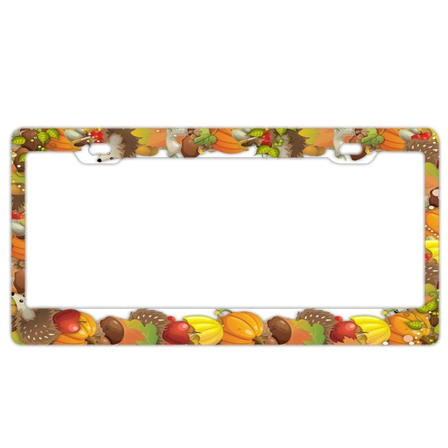YEX Abstract Pink Muddy Camo License Plate Frame Car Tag Frame Auto License Plate Holder 12' x 6' frame-0730-577