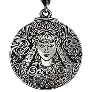 Large Brigid Celtic Goddess Necklace Jewelry
