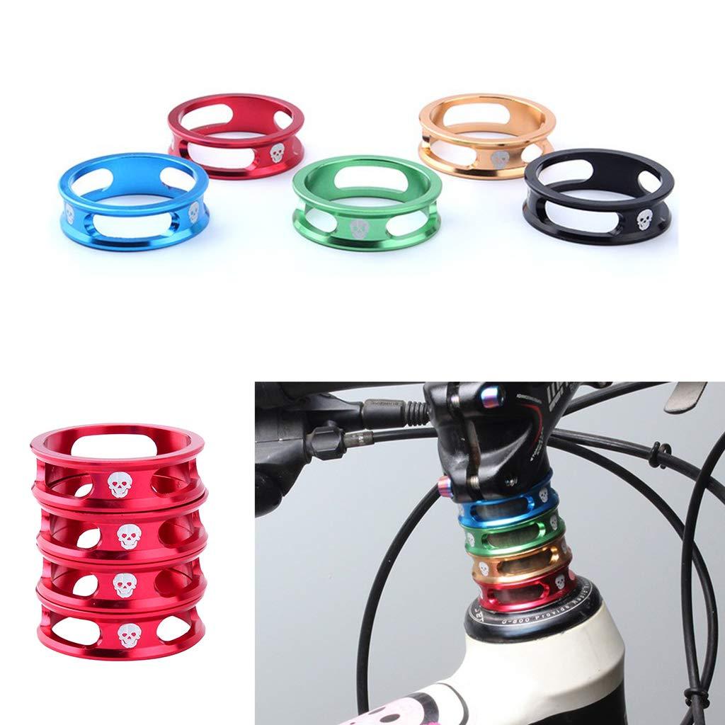 "10pc Bicycle Bike MTB Aluminum Alloy 1 1//8/"" Stem Washers Headset Spacer Blue"