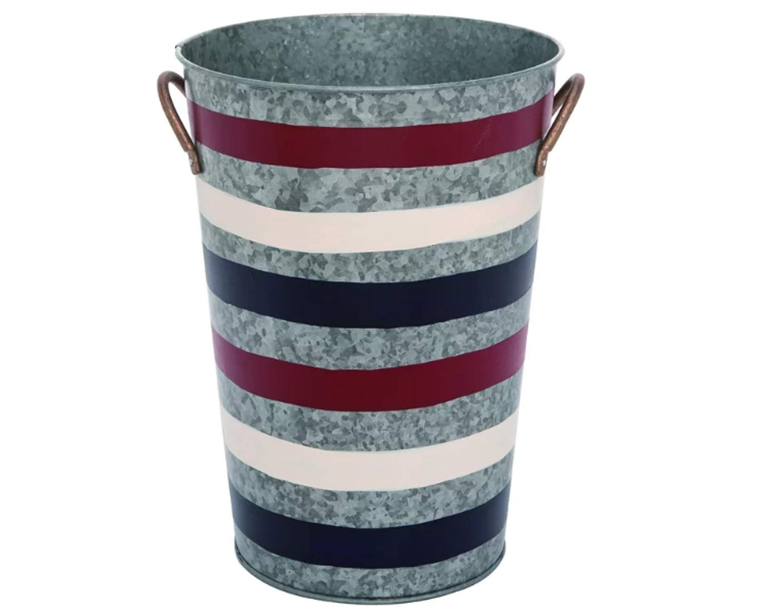 Wisechoice Patriotic Metal Bucket 4th of July Entryway Decor, 11.5 Inch H by Wisechoice