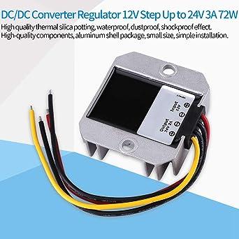 DC-DC 12V a 24V 3A 72W Voltage Step Up Module per aumentare il convertitore di alimentazione convertitori di potenza Convertitore DC-DC