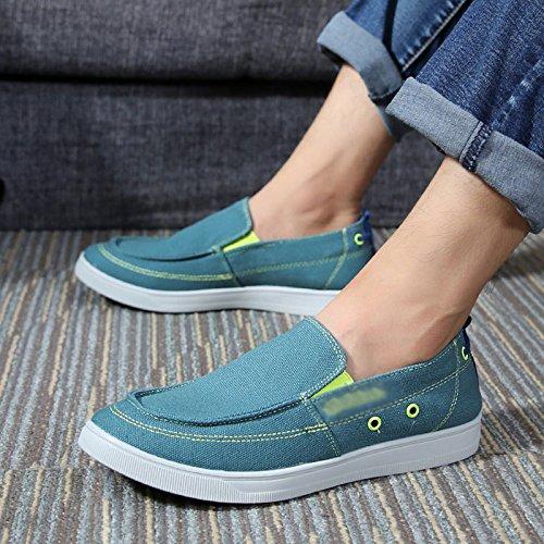 stoffa luna uomo WFL casual di pigro casual scarpe di scarpe scarpe chiaro un traspirante da vecchie di Scarpe uomini tela pedale scarpe Pechino TffqnwrtBx