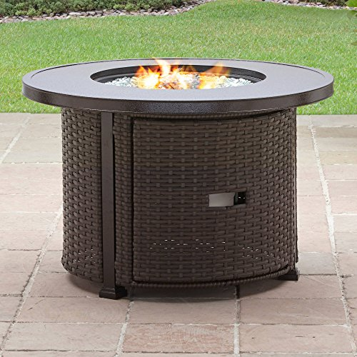 Better Homes and Gardens Colebrook 37'' Gas Fire Pit with Glass Beads and Cover by Better Homes & Gardens