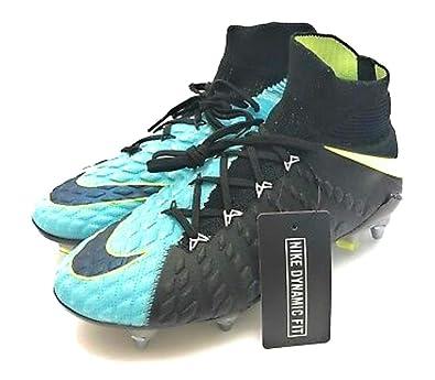 2f5a5d2e5742 Amazon.com  Nike Hypervenom Phantom III 3 DF SG Pro Soccer Cleats Acc  Flyknit 881548-401 Light Aqua Size 11.5  Shoes
