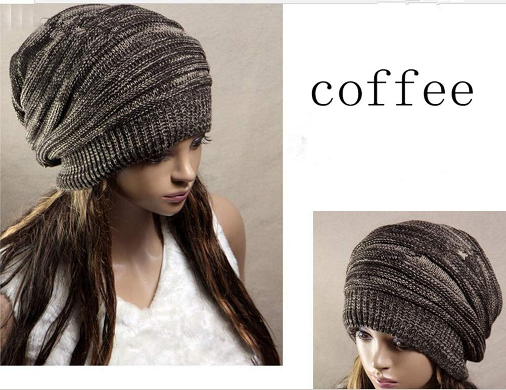 NEW Unisex Women Mens Knit Baggy Beanie Beret Hat Winter Warm Oversized Ski Cap