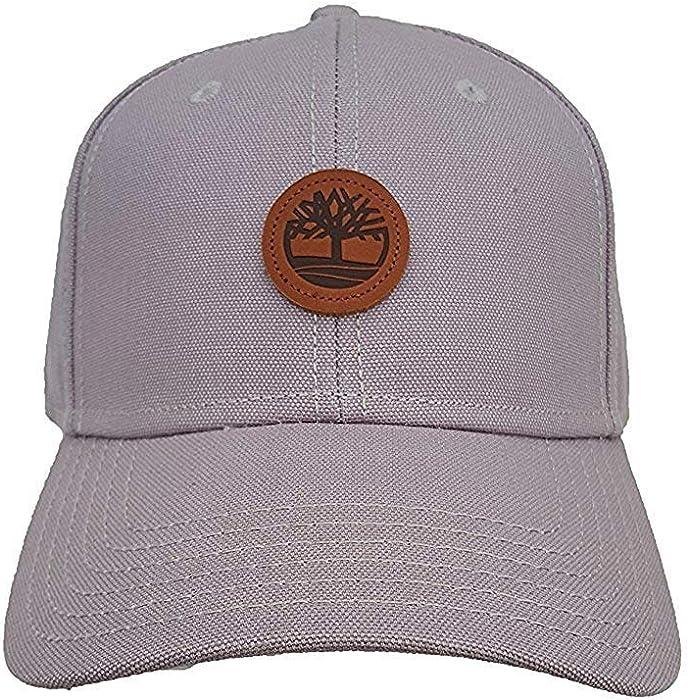4c012187 Timberland Men`s Classic Baseball Cap with Leather Adjustable Back Strap  (One Size, Sleet (021) / Brown/Sleet): Amazon.co.uk: Clothing