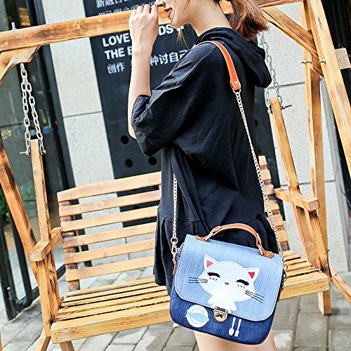 C Full Bag Shoulder Simple Fashion Bag Simple Cotton Cowboy Leisure Cartoon Lady Gaoqq nxU706RTR