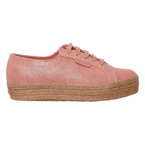 Superga 2730 Tyedyecotshiningropew Donna, Tela, Sneaker Alta, 38 EU