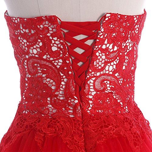 Bridal_Mall -  Vestito  - Senza spalline - Senza maniche  - Donna nero 34