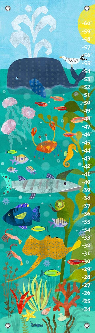 Blue Oopsy Daisy Ocean Swimmers Growth Chart