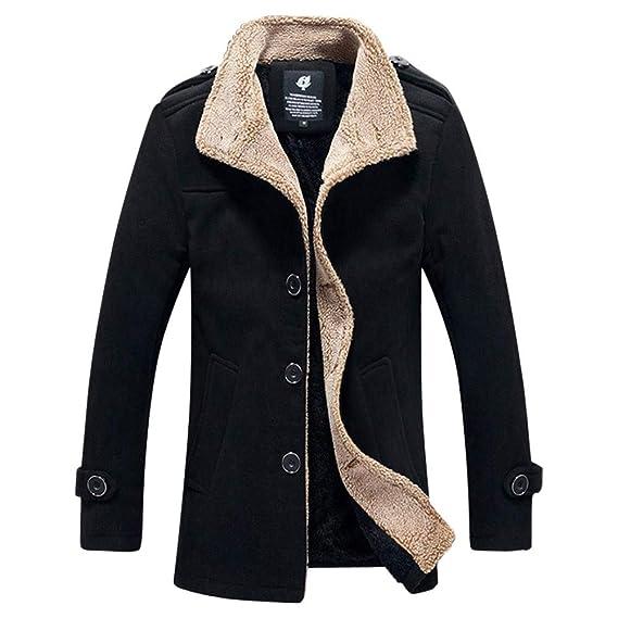 Yvelands Hombre Chaqueta de Abrigo de Lana Gruesa de Abrigo al Aire Libre cálido otoño Invierno Top Blusa: Amazon.es: Ropa y accesorios