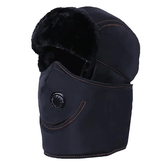 Sombrero De Bombardero Caliente De Invierno Para Hombre Sombrero De Piloto De Sombrero De Caza Máscara